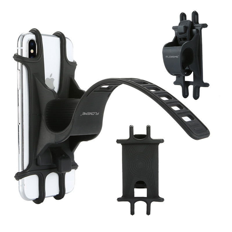 Floveme Elastic Wear-resistant Silicone Bike Bicycle Handlebar Holder Mount for iPhone Mobile Phone