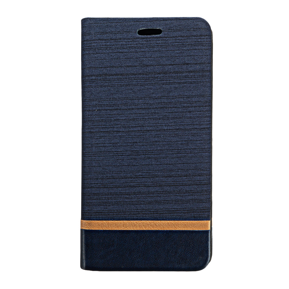 Bakeey Flip Stand Steel Layer Canvas Pattern PU Leather Full Protective Case for Xiaomi Redmi Note 9S / Redmi Note 9 Pro