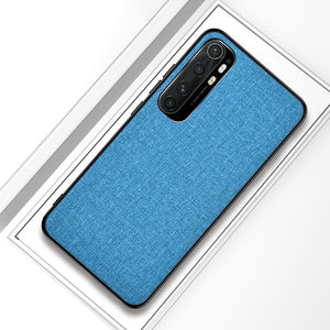 Bakeey for Xiaomi Mi Note 10 Lite Case Luxury Breathable Canvas Sweatproof Shockproof TPU Protective Case
