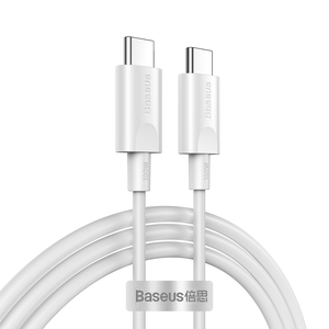 Baseus 1.5m/4.92ft 100W 5A PD USB-C to USB-C Cable PD 3.0 QC 3.0 FCP Fast Charging Data Sync Cable Cord For Samsung Galaxy S20 For iPad Pro 2020 MacBook Air 2020 For Nintendo Switch Xiaomi Huawei