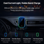 Load image into Gallery viewer, Baseus 15W Wireless Charger Infrared Induction Smart Sensor Air Vent Dashboard Car Phone Holder For 4.7-6.5 Inch Smart Phone For iPhone 11 For Samsung
