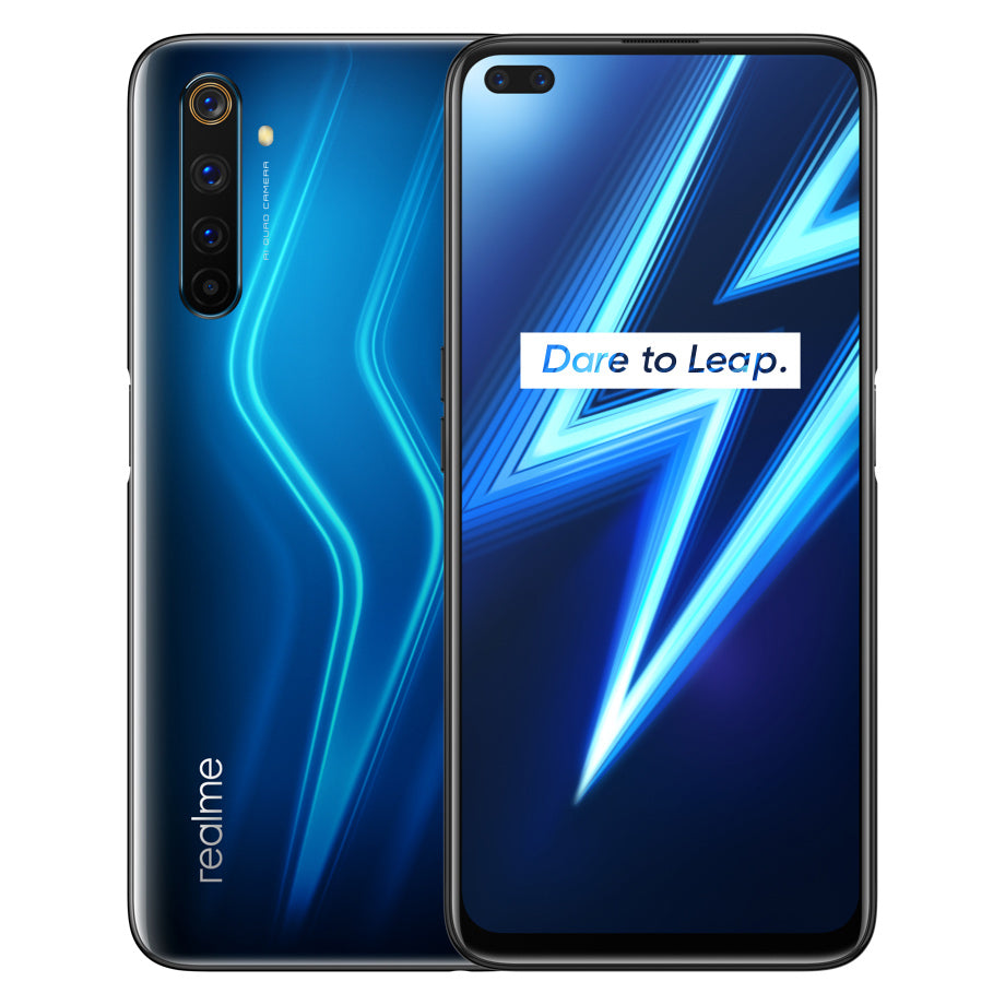 Realme 6 Pro IN Version 6.6 inch FHD+ 90Hz Ultra Smooth Display 120Hz Touch-Sensing Android 10 4300mAh 64MP AI Quad Rear Cameras Dual In-display Selfie 8GB 128GB Snapdragon 720G 4G Smartphone