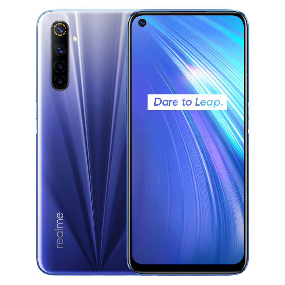 Realme 6 IN Version 6.5 inch FHD+ 90Hz Ultra Smooth Display 120Hz Touch-Sensing Android 10 4300mAh 30W Flash Charge 64MP AI Quad Rear Cameras 3-Card Slot 6GB 128GB Helio G90T Octa Core 4G Smartphone