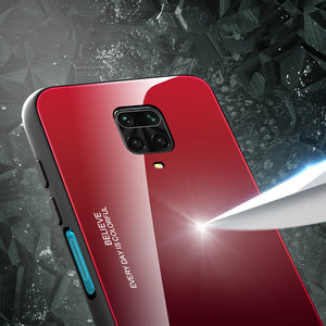 Bakeey for Xiaomi Redmi Note 9S / Redmi Note 9 Pro / Redmi Note 9 Pro Max Case Gradient Color Tempered Glass Shockproof Scratch Resistant Protective Case