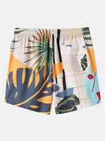 Load image into Gallery viewer, Banggood Designed Mens Casual Plants Leave Print Tropical Drawstring Shorts