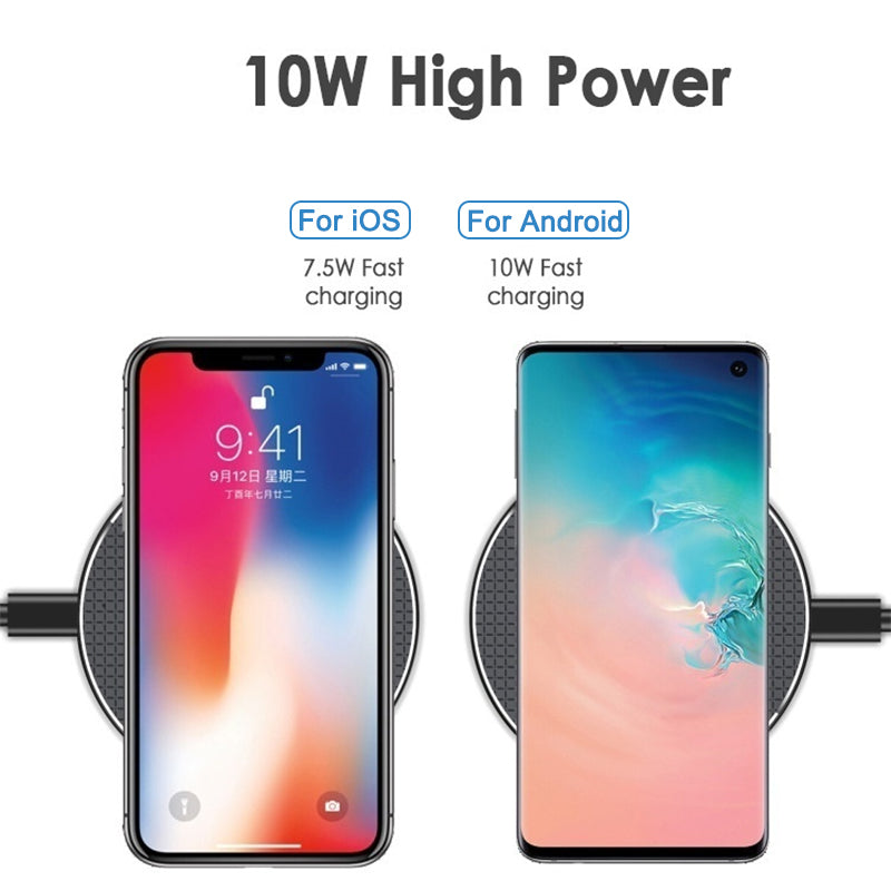 Bakeey 10W Fast Charging  Wireless Charger For iPhone X XS XR Max HUAWEI P30 Pro Note 10+ 5G+