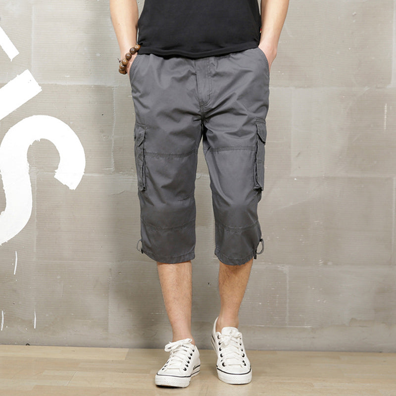 Outdoor Multi-pocket Cargo Calf-Length Shorts