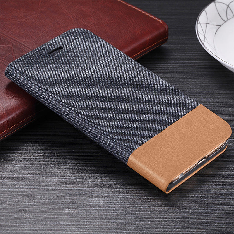 Bakeey Flip Stand Steel Layer Canvas Pattern PU Leather Full Protective Case For UMIDIGI F2