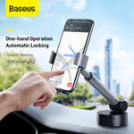 Load image into Gallery viewer, Baseus Universal 360 Degree Rotating Gravity Linkage Auto Lock with Telescopic Arm Car Dashboard Windshield Suction Cup Mount Holder for 4.7-6.5 inch Phone for iphone Smartphone Xiaomi Redmi 9A Poco F2 Pro