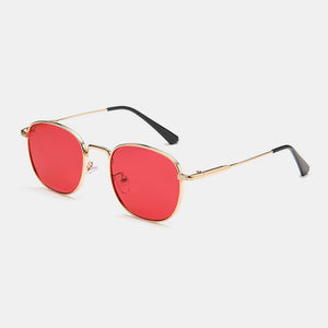 Unisex Retro Small Metal Square Frame Outdoor UV Protection Fashion Sunglasses