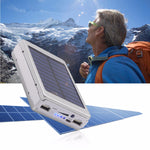 Load image into Gallery viewer, Bakeey 5x18650 Dual USB Solar Energy Camping Flashlight 20000mAh Battery Case Power Bank Box