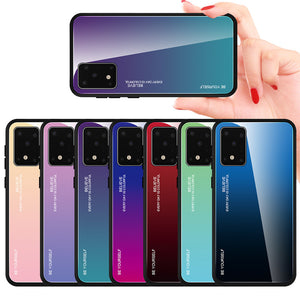 For Samsung Galaxy S20 Ultra Bakeey Gradient Color Tempered Glass Shockproof Scratch Resistant Protective Case