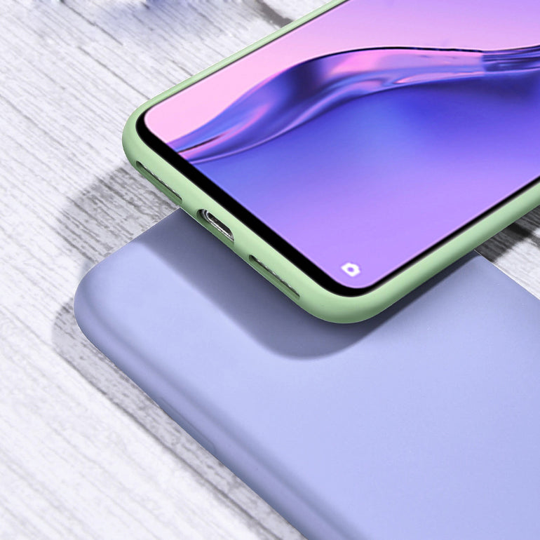 Bakeey for Xiaomi Redmi Note 9S / Redmi Note 9 Pro Case Smooth Shockproof Soft Liquid Silicone Rubber Back Cover Protective Case
