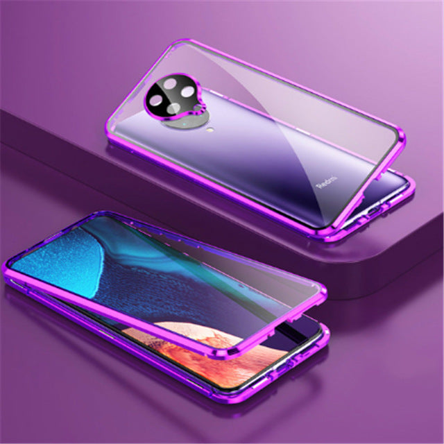 Bakeey Magnetic Adsorption Front+Back Double-sided + Lens Protector 360° Full Body Flip Protective Case for Poco F2 Pro