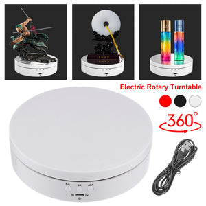 360° Rotating Display Stand Electric Rotary Turntable Jewelry Watch Show Holder