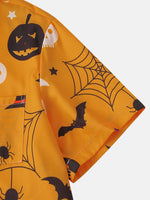 Load image into Gallery viewer, Banggood Design 3 Color Halloween Cartoon Print Turn Down Collar Short Shirts