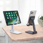 Load image into Gallery viewer, Universal Foldable Portable Telescopic Online Learning Live Streaming Desktop Stand Tablet Phone Holder for Tablet Phone