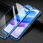 Load image into Gallery viewer, Bakeey for Xiaomi Redmi Note 9S / Redmi Note 9 Pro Case 2 in 1 with Lens Protector Magnetic Flip Double-Side Tempered Glass Metal Full Cover Protective Case