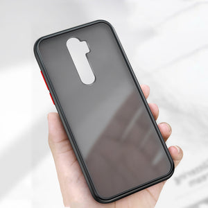 For Xiaomi Redmi Note 8 Pro Case Bakeey Armor Shockproof Anti-fingerprint Matte Translucent Hard PC&Soft TPU Edge Protective Case