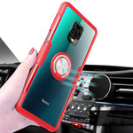 Load image into Gallery viewer, Bakeey for Xiaomi Redmi Note 9S / Redmi Note 9 Pro / Redmi Note 9 Pro Max Case Carbon Fiber Pattern 360° Rotation Adjustable Magnetic Ring Holder Shockproof Transparent Protective Case