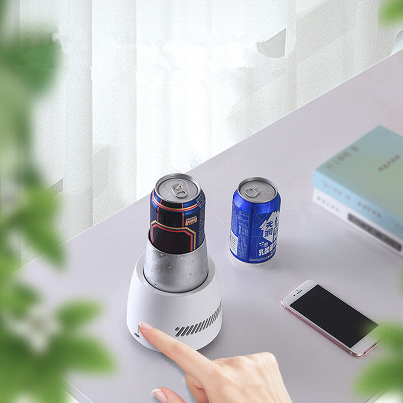 28W Instant Cooling Equipment Cup 350ML Electric Cooler Summer Quick Cooler Electric Powered Cup Cooler Cup Mug Holder Machine Mini Fridge Freezer for Beverage Yogurt Jelly EU/US/UK/AU