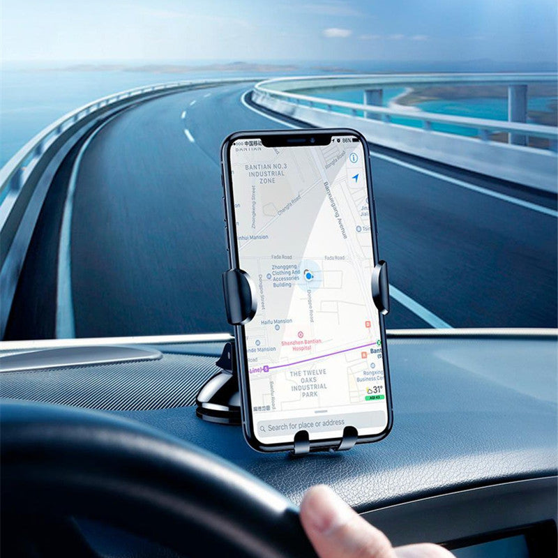 Baseus Gravity Linkage Auto Lock Suction Cup Car Dashboard Phone Holder Stand for iPhone 8 X Xiaomi