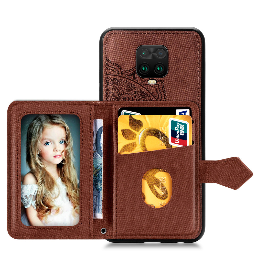 Bakeey for Xiaomi Redmi Note 9S / Redmi Note 9 Pro / Redmi Note 9 Pro Max Case Magnetic PU + TPU with Phone Wallet Card Slot Photo Frame Shockproof Protective Case