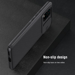 NILLKIN Anti-Hacker Peeping Slide Lens Cover Shockproof Anti-scratch Protective Case for Xiaomi Mi 10 Lite