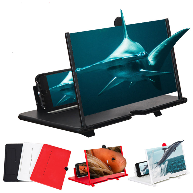 "12"" Desktop Foldable 3D Phone Screen Magnifier Video Movie Screen Amplifier for Smart Phone for iPhone for Samsung Xiaomi Huawei"