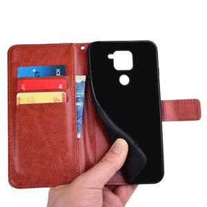 Bakeey Magnetic Flip with Multiple Card Slot Foldable Stand PU Leather Shockproof Full Cover Protective Case for Xiaomi Redmi Note 9 / Redmi 10X 4G