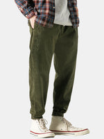 Load image into Gallery viewer, Vintage Corduroy Solid Color Pocket Casual Straight Pants