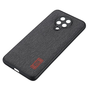 Bakeey Luxury Fabric Splice Soft Silicone Edge Shockproof Protective Case For Poco F2 Pro / Xiaomi Redmi K30 PRO Case