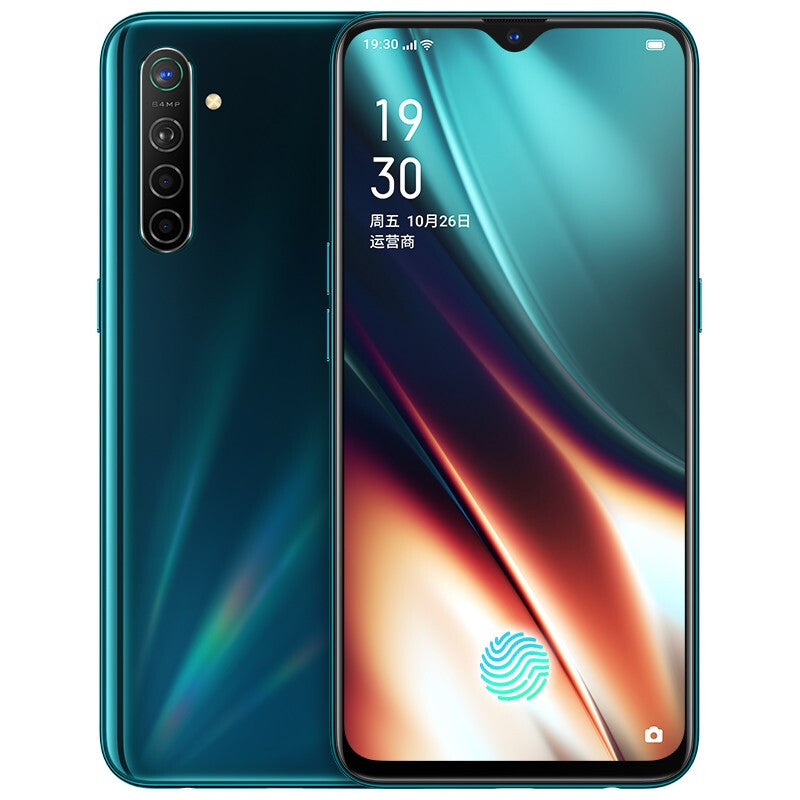OPPO K5 CN Version 6.4 inch FHD+ NFC 4000mAh VOOC 4.0 Dual WIFI 64MP Quad Rear Cameras 32MP AI Beauty Front Camera 8GB 256GB Snapdragon 730G 4G Smartphone