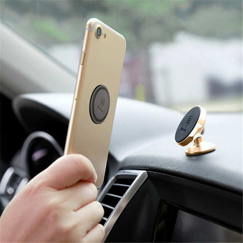 Baseus Magnetic 360 Degree Rotation Car Dashboard Phone Holder Stand for Samsung Xiaomi iPhone S8