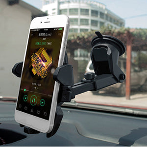 2 In 1 Multifunctional Car Air Vent Front Glass Instrument Desk Sucker Phone Holder for Phone 3-6.5 inches