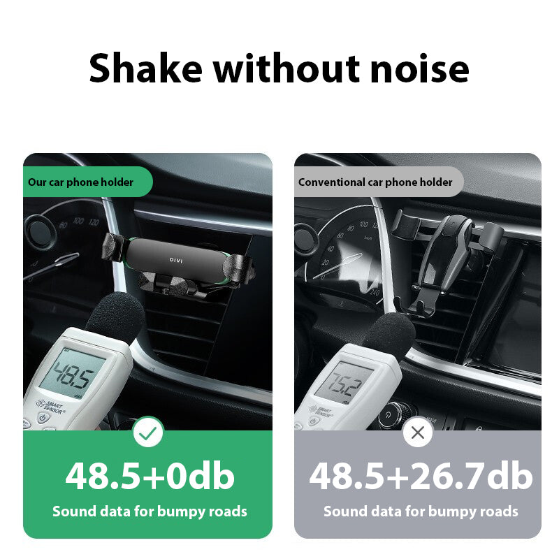 Bakeey D2 Metal Gravity Linkage Automatic Lock Air Vent Car Phone Holder For 4.0-6.9 Inch Smart Phone For iPhone 11 Pro Max Xiaomi Redmi Note 8 Pro