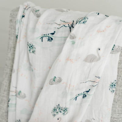 A SWAN'S TALE BAMBOO RAYON SWADDLE
