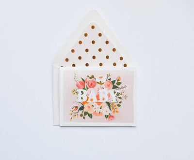 BABY FLORAL CARD