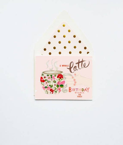 LATTE BIRTHDAY WISHES CARD