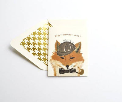 HAPPY BIRTHDAY FOXY CARD