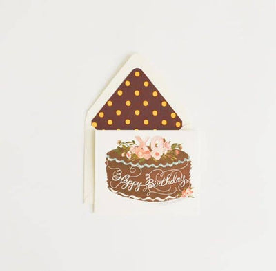 XO BIRTHDAY CAKE CARD