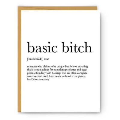 BASIC BITCH CARD
