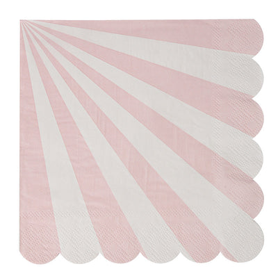 DUSTY PINK STRIPED NAPKIN