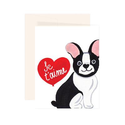 JE T'AIME FRENCHIE CARD