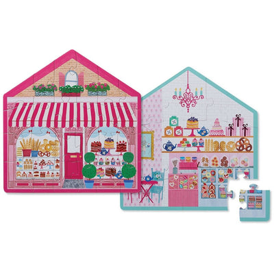 24 PIECE TWO SIDED SWEET SHOP PUZZLE