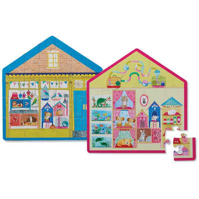 24 PIECE TWO SIDED PET SHOP PUZZLE