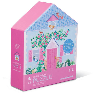24 PIECE TWO SIDED LITTLE HOUSE PUZZLE