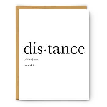 DISTANCE DEFINITION CARD