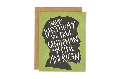 GENTLEMAN BIRTHDAY CARD