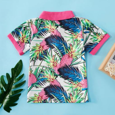 GARRETT TROPICAL PINEAPPLE POLO